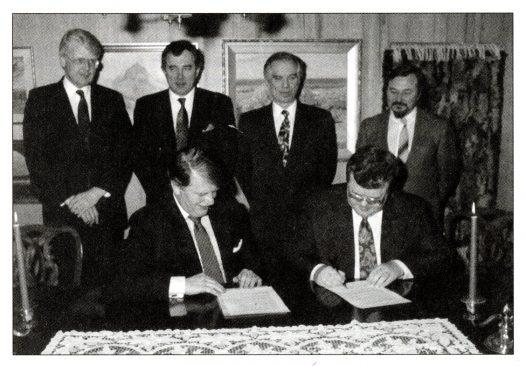 Ühisdeklaratsiooni allakirjutamine Islandi peaministriga