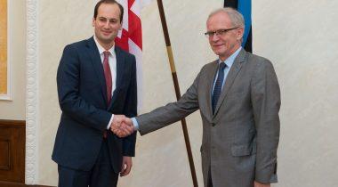 Riigikogu esimehe Eiki Nestori ja Gruusia välisministri Mihheil Džanelidze kohtumine