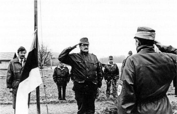 Noorte piirikaitsjate vastuvõtt Eesti-Läti piiril