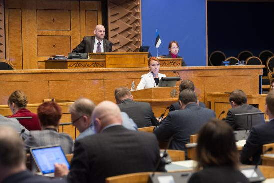 Keit Pentus-Rosimannus Riigikogu istungil