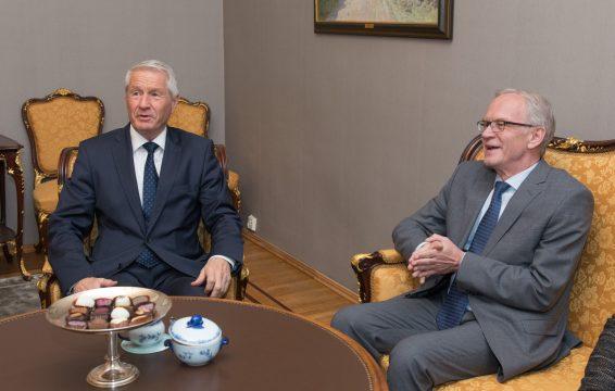 Thorbjørn Jagland ja Eiki Nestor