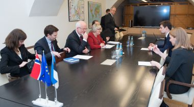 Kalle Palling ja Norra eurominister Elisabeth Aspaker