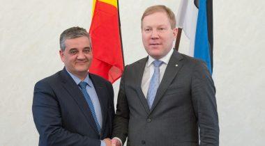 Marko Mihkelson kohtumisel Belgia kaitseministriga