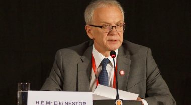 President of the Riigikogu (Parliament of Estonia) Eiki Nestor