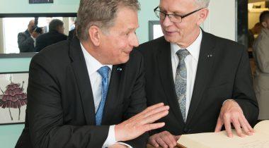 Riigikogu esimehe Eiki Nestori ja Soome presidendi Sauli Niinistö kohtumisel