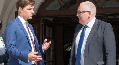 Kalle Palling Euroopa Komisjoni asepresidendi Frans Timmermansiga