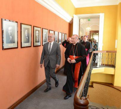 Riigikogu esimehe Eiki Nestori ja Püha Tooli riigisekretäri kardinal Pietro Parolini kohtumine.