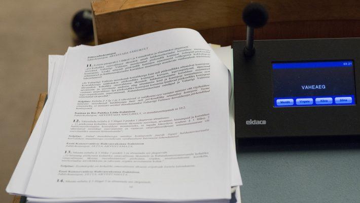 Riigikogu istung, haldusreformi seadus