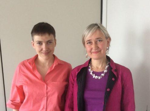 Nadia Savtšenko ja Marianne Mikko