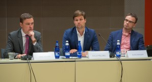Prime Minister Taavi Rõivas, Chairman of the European Union Affairs Committee Kalle Palling and Chairman of the Foreign Affairs Committee Sven Mikser
