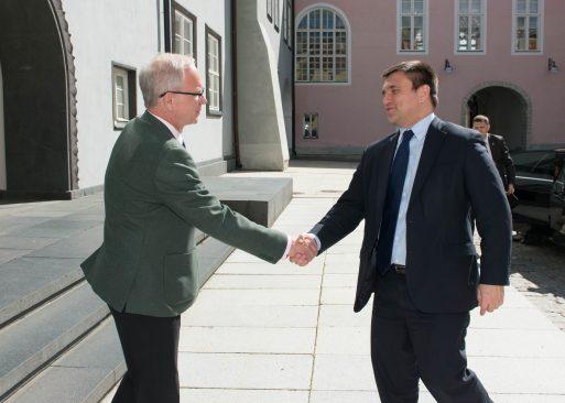 Riigikogu esimees Eiki Nestor ja Ukraina välisminister Pavlo Klimkin.