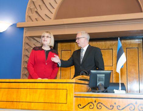 Riigikogu esimees Eiki Nestor ja Bulgaaria parlamendi spiiker Tsetska Tsacheva.