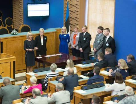 President was not elected in the first round of voting in the Riigikogu