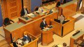 Peaminister Taavi Rõivas tegi poliitilise avalduse Riigikogu täiskogu istungil seoses 2017. aasta riigieelarve seaduse eelnõu üleandmisega