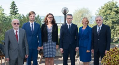 European Commissioner for Trade Cecilia Malmström and the chairpersons of the European Union Affairs Committees of the parliaments of the Baltic States and Poland