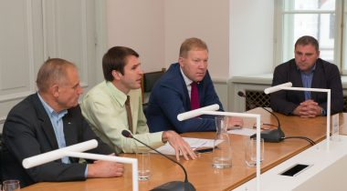 The Chairman of the National Defence Committee Marko Mihkelson, The Chairman of the Environment Committee Rainer Vakra