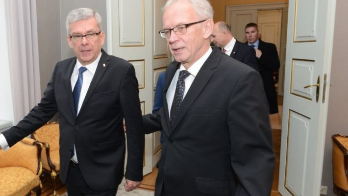 Riigikogu esimees Eiki Nestor ja Poola parlamendi ülemkoja (Senat) esimees Stanisław Karczewski.