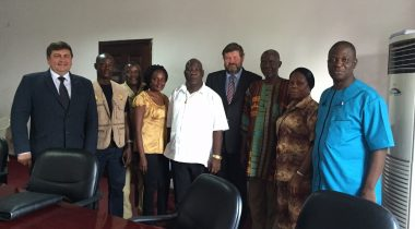 Chairman of the Estonia-Africa Parliamentary Group of the Riigikogu (Parliament of Estonia) Mart Nutt and Deputy Chairman of the Parliamentary Group Mati Raidma on a working visit in Liberia