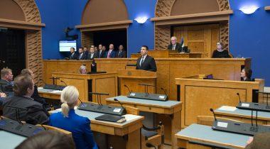 Täiskogu istung. Uus valitsus andis Riigikogu ees ametivande