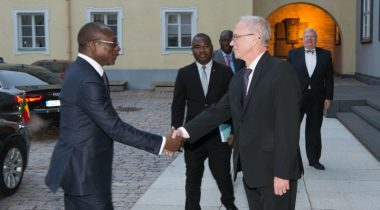 President of the Riigikogu (Parliament of Estonia) Eiki Nestor and President of the Republic of Benin Patrice Talon.