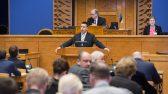 Peaminister Jüri Ratas Riigikogu istungil