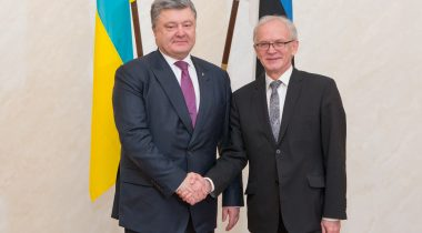 President of the Riigikogu (Parliament of Estonia) Eiki Nestor and President of Ukraine Petro Poroshenko