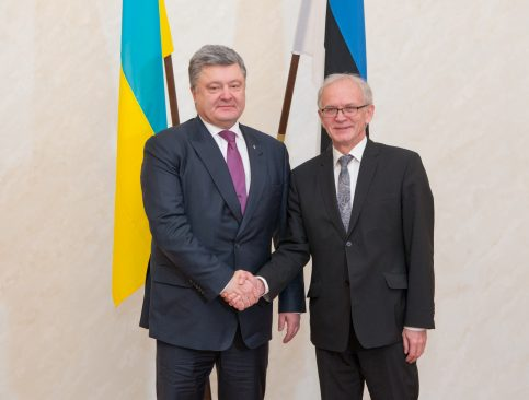 Riigikogu esimehe Eiki Nestori kohtumine Ukraina presidendi Petro Porošenkoga