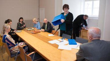 Probleemkomisjon rahvastikukriisi lahendamiseks, esimehe ja aseesimehe valimine
