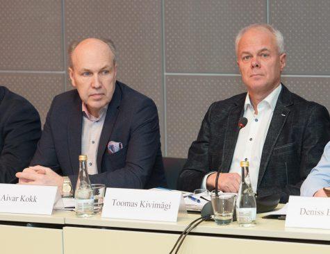 Majanduskomisjoni esimees Aivar Kokk ja aseesimees Toomas Kivimägi