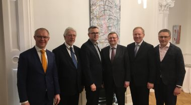Hanso ja Mihkelson in London with their colleagues from Latvia and Lithuania