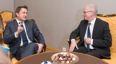 President of the Riigikogu (Parliament of Estonia) Eiki Nestor and Prime Minister of Luxemburg Xavier Bettel