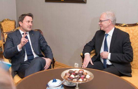 Riigikogu esimees Eiki Nestor ja Luksemburgi peaminister Xavier Bettel