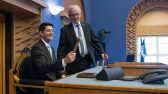 Riigikogu esimees Eiki Nestor ja Ameerika Ühendriikide Esindajatekoja spiiker Paul Ryan.