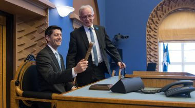 President of the Riigikogu (Parliament of Estonia) Eiki Nestor and Speaker of the United States House of Representatives Paul Ryan.