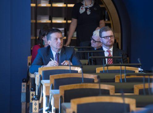 Eesti Panga president Ardo Hansson ja Finantsinspektsiooni juhatuse esimees Kilvar Kessler