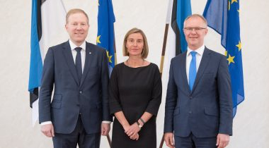 Mihkelson, Mogherini, Hanso