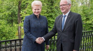 President of the Riigikogu Eiki Nestor and the President of Lithuania Dalia Grybauskaitė.