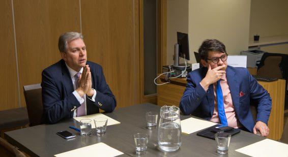 Korruptsioonivastase erikomisjoni istung. Andres Herkel ja Priit Sibul