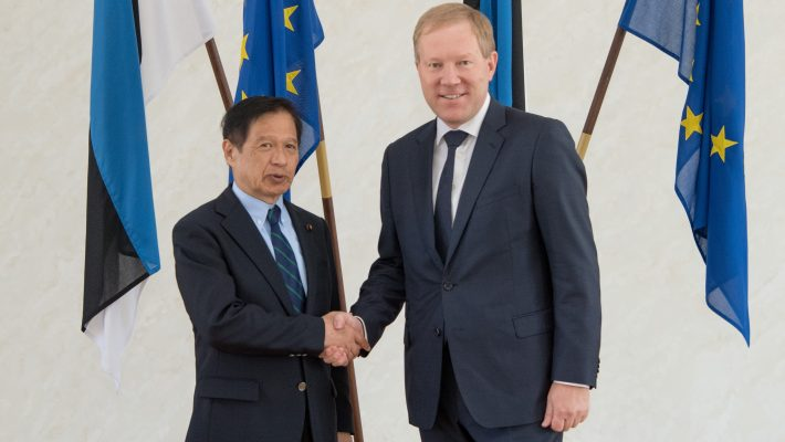 Mihkelson and Mitsuya considered it important to develop Estonia-Japan relations