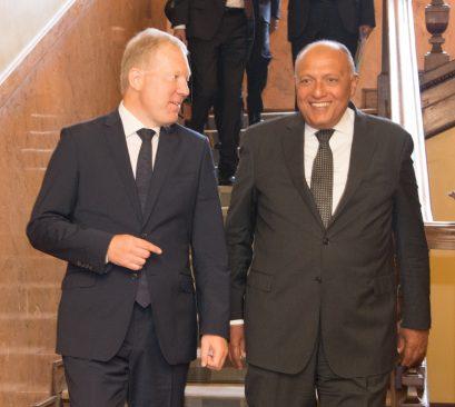 Mihkelson kohtus täna Egiptuse välisministri Sameh Hassan Shoukry'ga