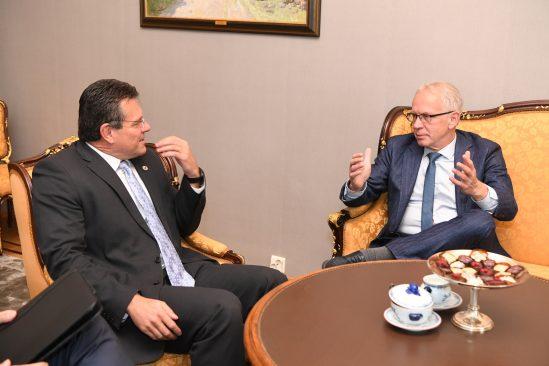 Eiki Nestori kohtumine Euroopa Komisjoni asepresidendi ja energeetikavolinik Maroš Šefčovičiga