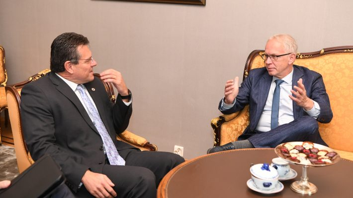 Nestor met the European Commissioner for the Energy Union Šefčovič to discuss the functioning of the energy market