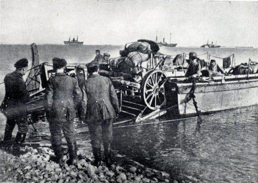 Saksa suurtükiväe maalesaatmine Tagalahes Saaremaal