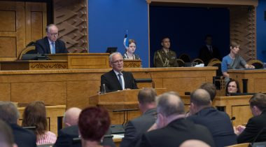 Речь спикера Рийгикогу Эйки Нестора на вступительном заседании осенней сессии