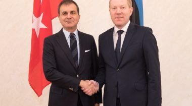 Minister of European Union Affairs of Turkey Ömer Çelik and Chairman of the Foreign Affairs Committee of the Riigikogu Marko Mihkelson