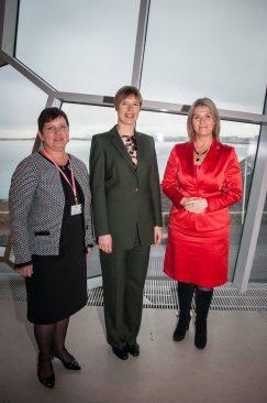 Terje Trei, Kersti Kaljulaid ja Liisa Oviir Islandil