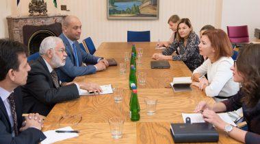 Riigikogu väliskomisjoni ja riigikaitsekomisjoni kohtumine Liibüa ühtsusvalitsuse välisministri Mohamed Taha Sialaga