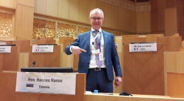 Председатель комиссии Рийгикогу по государственной обороне и член делегации в Парламентской ассамблее НАТО (ПА НАТО) Ханнес Хансо