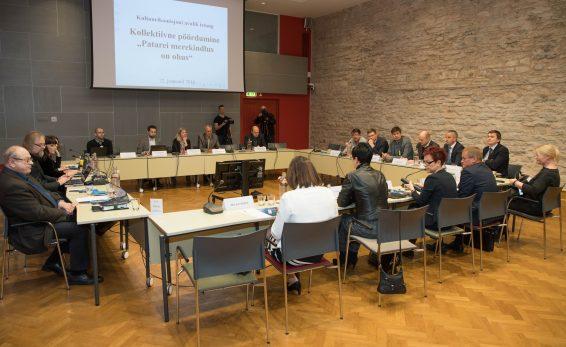 Patarei merekindluse arutelu kultuurikomisjonis. Foto: Erik Peinar