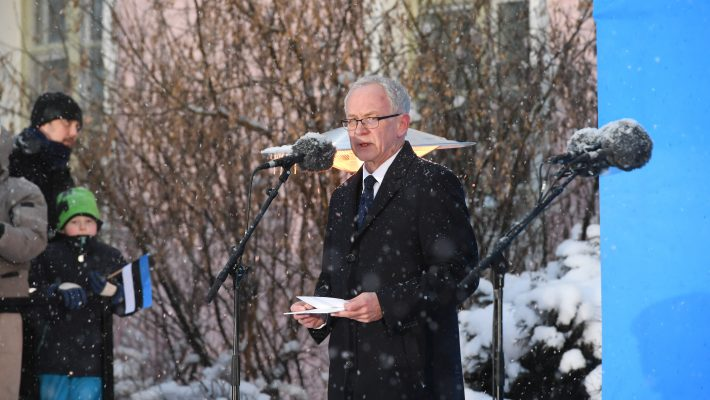 Speech by the President of the Riigikogu Mr Eiki Nestor at the ceremony of hoisting the national flag
